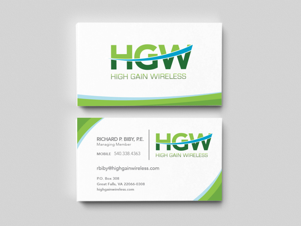 High Gain Wireless Business Cards