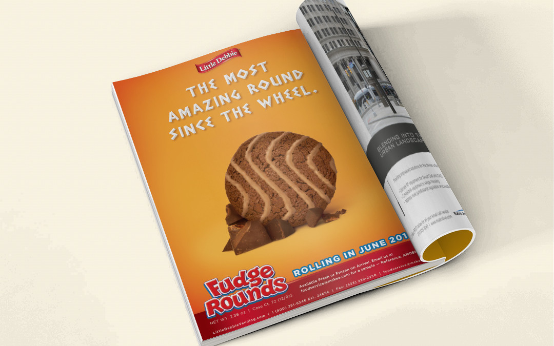Little Debbie Fudge Round Ad