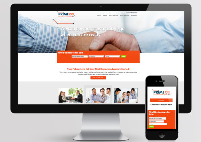 Prime 100 Business Broker Website