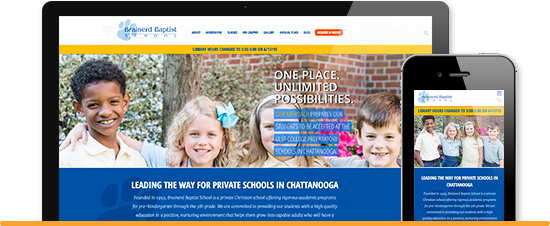 Brainerd Baptist School Web Design