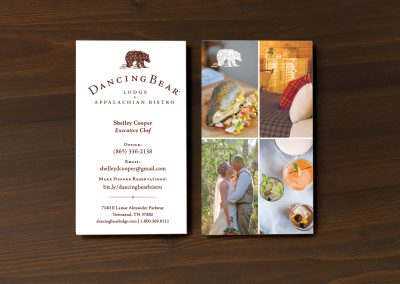 Dancing Bear Lodge Business Cards