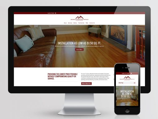 Memphis Hardwood Installs Website Design