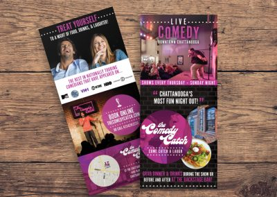 Comedy Catch Rackcards & Concierge Cards
