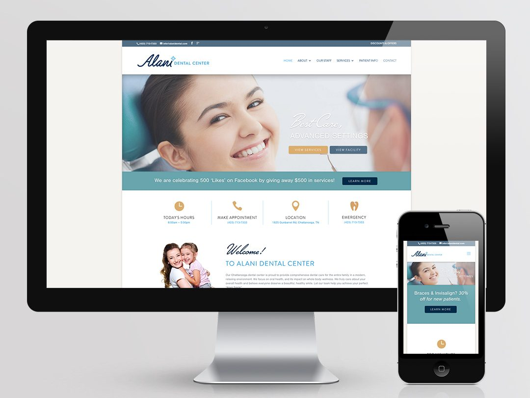 Alani Dental Center Web Design