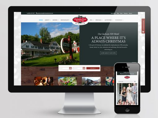 Christmas Farm Inn Website Design