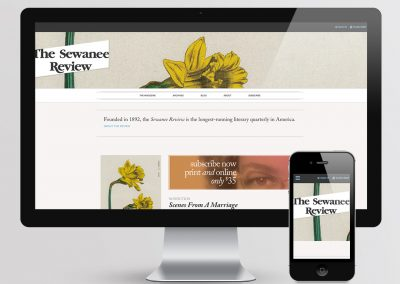 The Sewanee Review Web Design