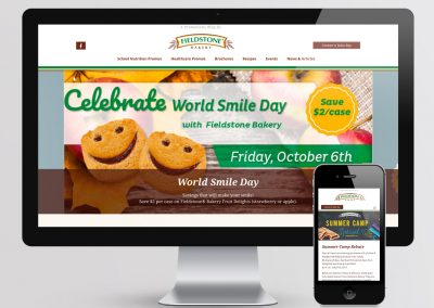 Fieldstone Bakery Promotions Website