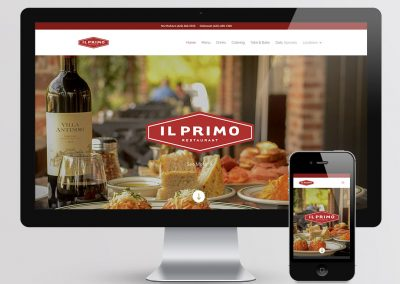 Il Primo Restaurant Website Design