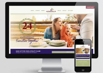Acropolis Grill Website Design