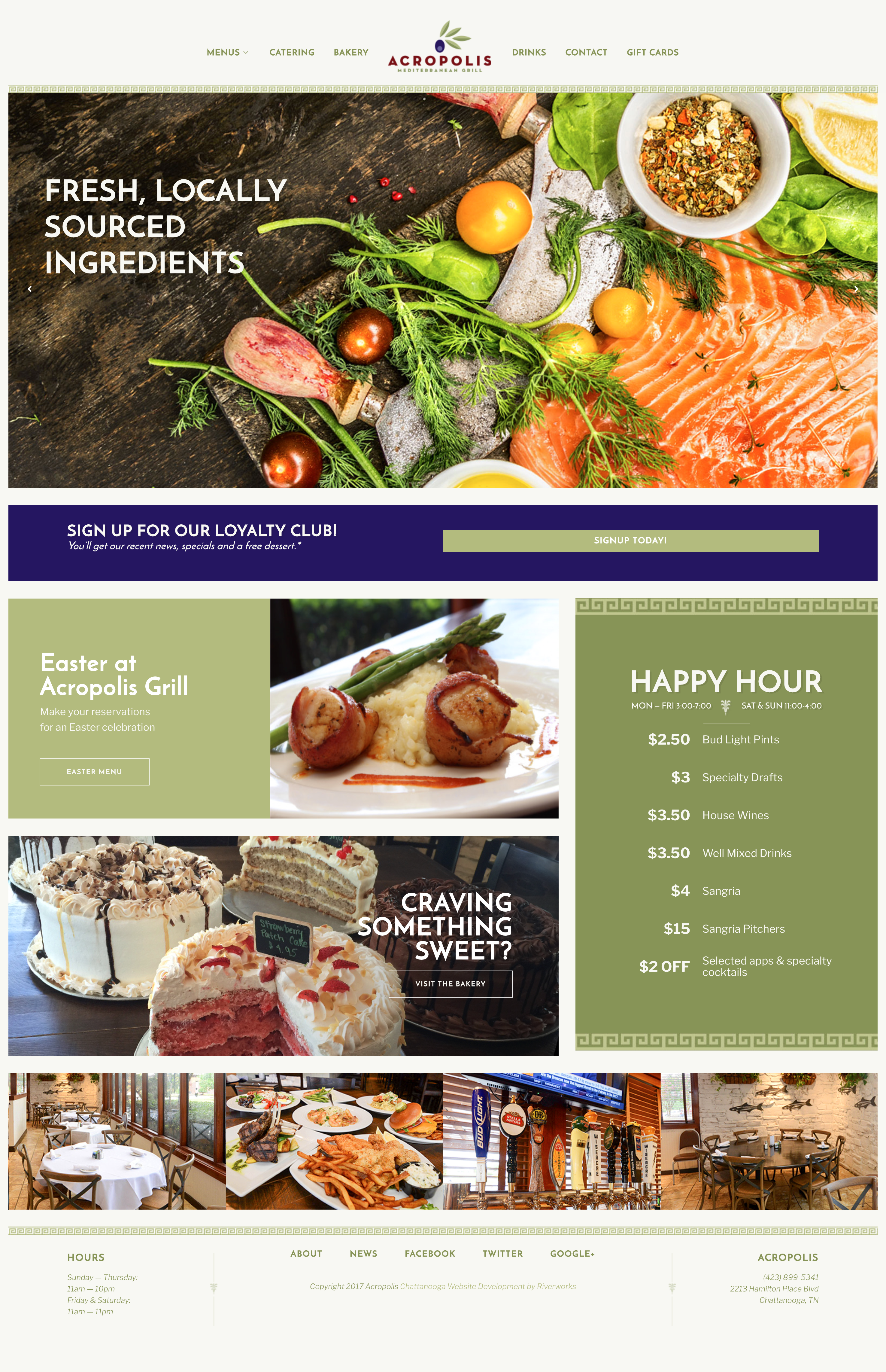 Acropolis Grill - Website Homepage