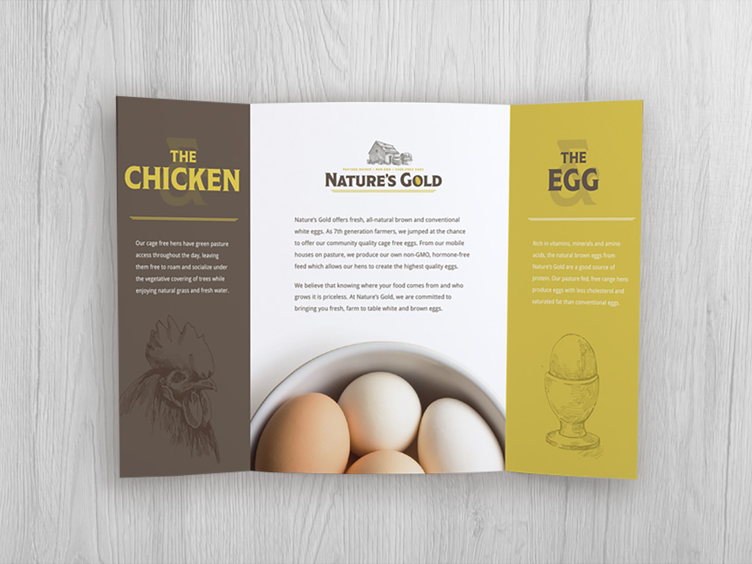 Nature's Gold Gate-Fold Brochure