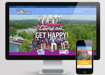 Lake Winnepesaukah Website Design