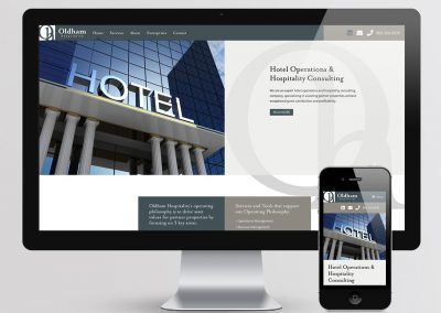 Oldham Hospitality Website Design