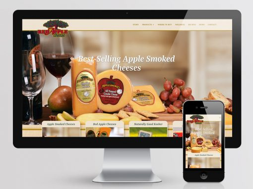 Red Apple Cheese Website Design
