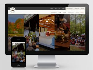 Dancing Bear Lodge and Appalachian Bistro Website Design